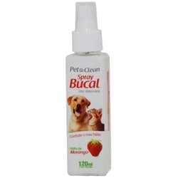 Spray Bucal para Cachorro/Gato - 120ml - (Pet Clean)
