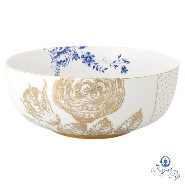 Saladeira M Flowers Royal White Pip Studio