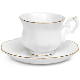 Jogo 6 Xícaras Café Windsor Gold Lining Royal Porcelain