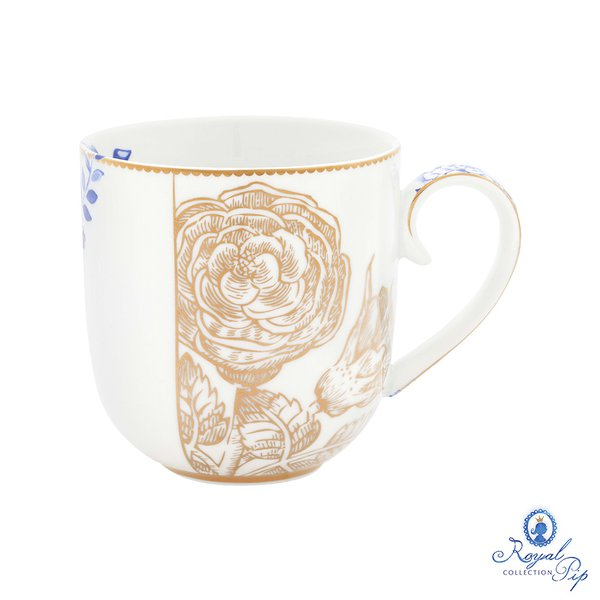 Caneca P Golden Royal White Pip Studio