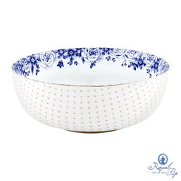 Saladeira Flowers M Royal White Pip Studio