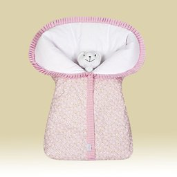 Porta Bebê Estampado MARGARIDA Rosa - 1 PC