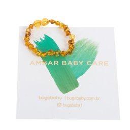 Pulseira de Ambar Baroque Honey 19cm