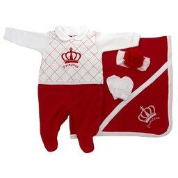 Kit Maternidade Princesa Vermelho - 4 peças 40ae96160d5