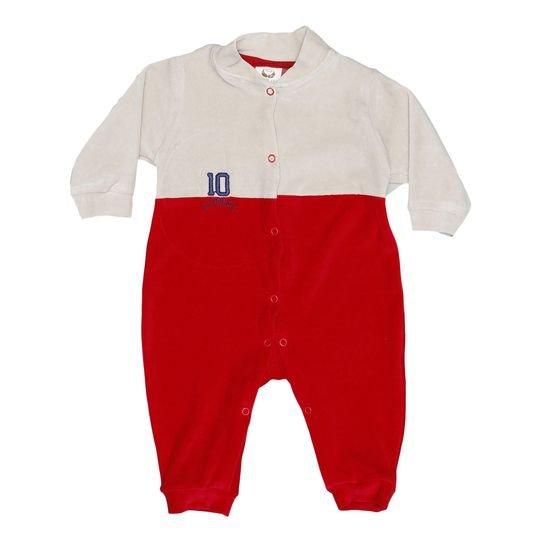 Macacao-Realeza-Vermelho-1-Peca Enxoval-De-Bebe Luminarias   Cheirinho de  Neném 9b2e62a38a