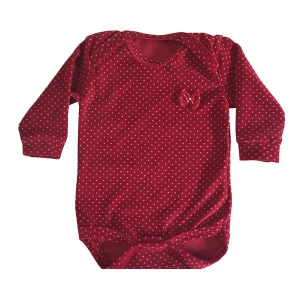 Body Poá Plush Vermelho - 1 peça  b702595874f