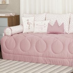 Kit Cama Baba Flamingo  - 9 Pçs