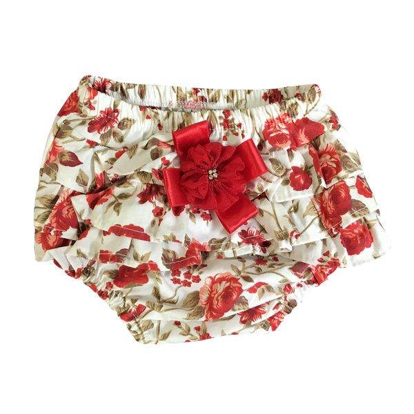 ae458119d Calcinha Bunda Rica Floral Vermelho - 1 Peça
