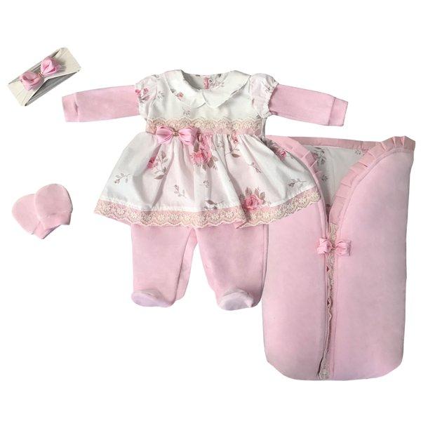 0538e5cf09a7 Saída Maternidade Laura - 4 Peças   Cheirinho de Neném