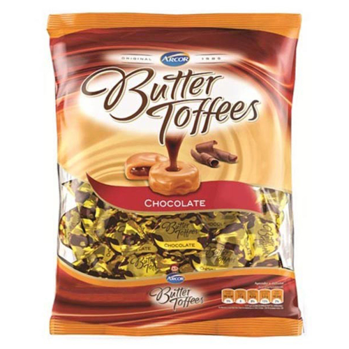 Bala Butter Toffees Chocolate 600g - Arcor Un