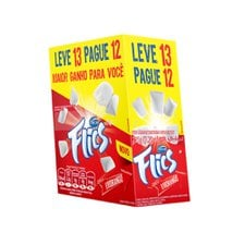 Chicle Flics Morango - Arcor 12un