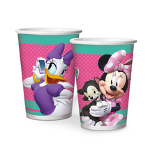 Copo Papel 180ml Minnie Rosa Happy Regina 8un