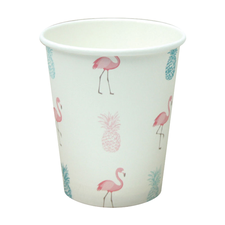 Copo de Papel 200ml Flamingo - Box House 8Un