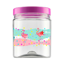 Pote Pet Flamingo 900ml Bandeirante Un