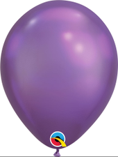 "Balão 11"" Redondo Chrome Purple Qualatex Un"