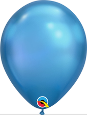 "Balão 11"" Redondo Chrome Blue Qualatex Un"