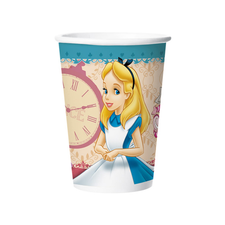 Copo De Papel 180ml Alice Regina 8un
