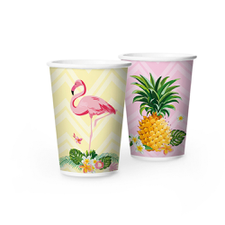 Copo De Papel 180ml Flamingo - Regina 8Un