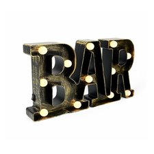 Enfeite Led 21x35cm Bar Lucky Un