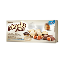 Wafer Recheado Chocolate Com Avelã Mendowafer 120g - Barion Unidade