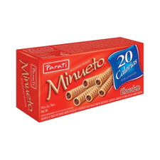 Rolinho Wafer Minueto Chocolate Parati 40g
