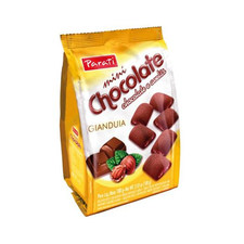 Biscoite Mini Chocolates E Avelã Com Gianduia Parati 100g