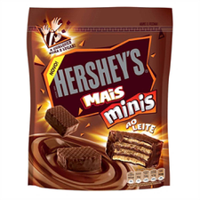 Mini Wafer Com Recheio E Cobertura De Chocolate Hersheys 100g