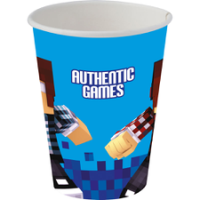 Copo Papel 200ml Authentic Games - Festcolor 8Un