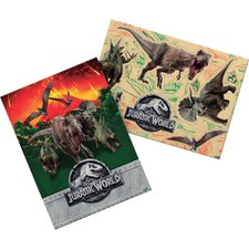 Kit de Painel Decorativo Retangular 64x45cm com 6 Apliques Jurassic World 2 - FestColor Un