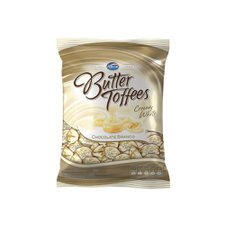 Bala Butter Toffees Chocolate Branco 600g - Arcor Unidade