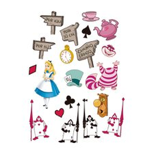 Mini Personagens Decorativo Alice Disney Regina 20un