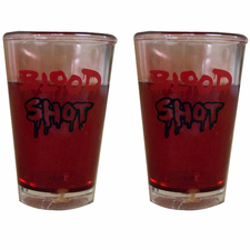 Copo Shot Com Sangue Halloween Bpg 2un