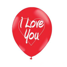 "Balão Balloontech 10"" I Love You Art Festa 25un"