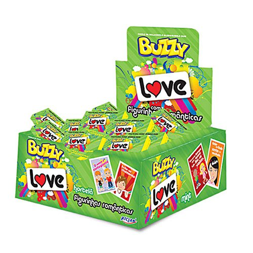 Chicle Buzzy Love Hortelã - Riclan 100Un