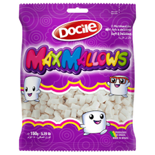 Marshmallow Maxmallows Mini Tubo Branco Baunilha Docile 150g