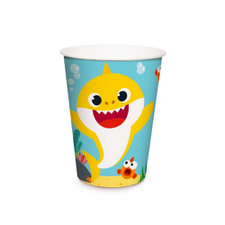Copo de Papel 240ml Baby Shark - Cromus 8Un