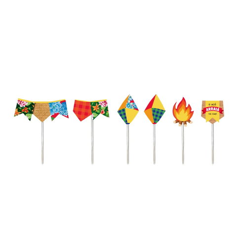 Pick Decorativo Arraial Junino Sortidos - Cromus 12Un