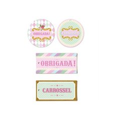 Tags Decorativas Carrossel - Cromus 12Un