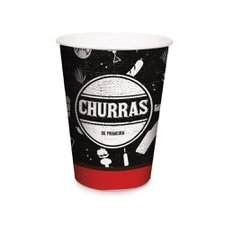 Copo de Papel 240ml Churrasco - Cromus 8Un