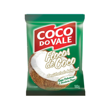 Coco Flocos Integral Úmido 100g - Do Vale Un