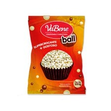 Cereal Mini Ball Chocolate Branco 500g - Vabene Un