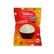 Cereal Micro Ball Chocolate Branco 500g - Vabene Un