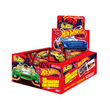 Chicle Buzzy Hot Wheels Tattoo Tutti Frutti 400g - Riclan 100Un
