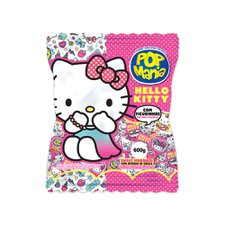 Pirulito Pop Mania Hello Kitty Morango 600g - Riclan 50Un