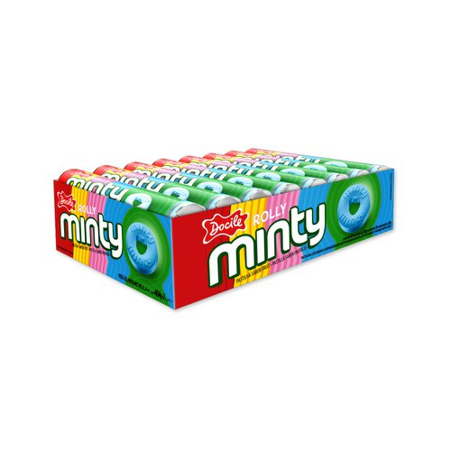 Pastilha Rolly Minty Frutas 464g - Docile 16Un