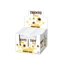 Chocolate Mini Trento Bites Branco Dark 40g - Peccin 12Un