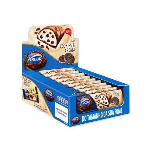 Chocolate Tablete Cookies & Cream 37g - Arcor 12Un