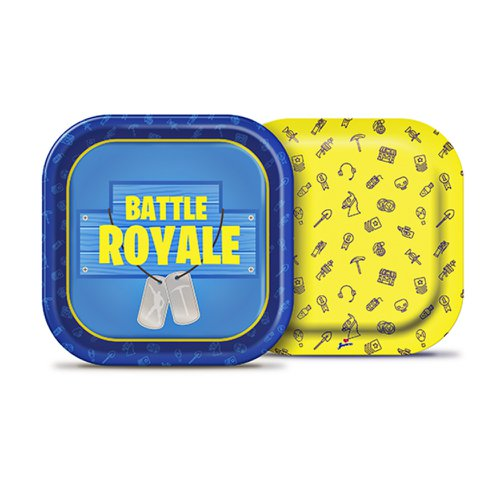 Prato de Papel 18cm Quadrado Decorado Battle Royale - Junco 8 Unidades
