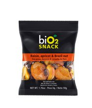 biO2 Snack Damasco, Uva e Castanha do Pará 50g
