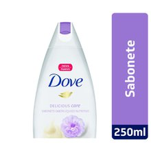 Sabonete Líquido Dove Delicious Care creme e Flor Peônia 250ml